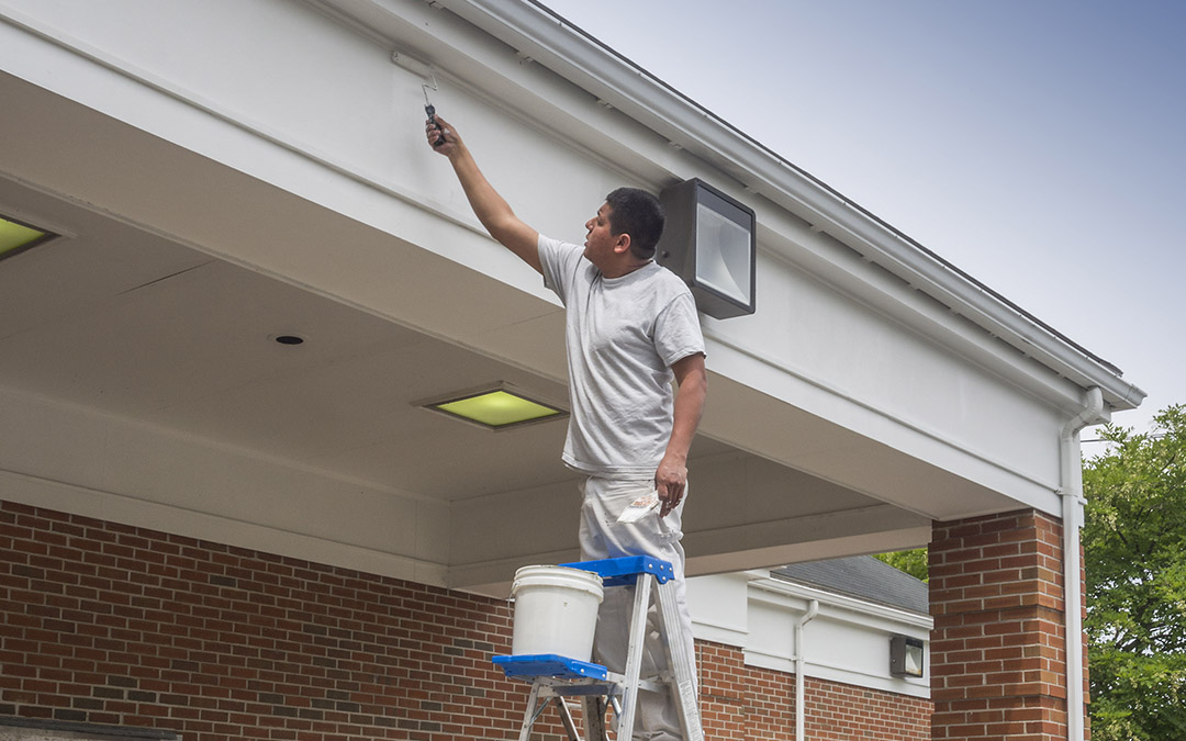 Commercial exterior painting in El Monte
