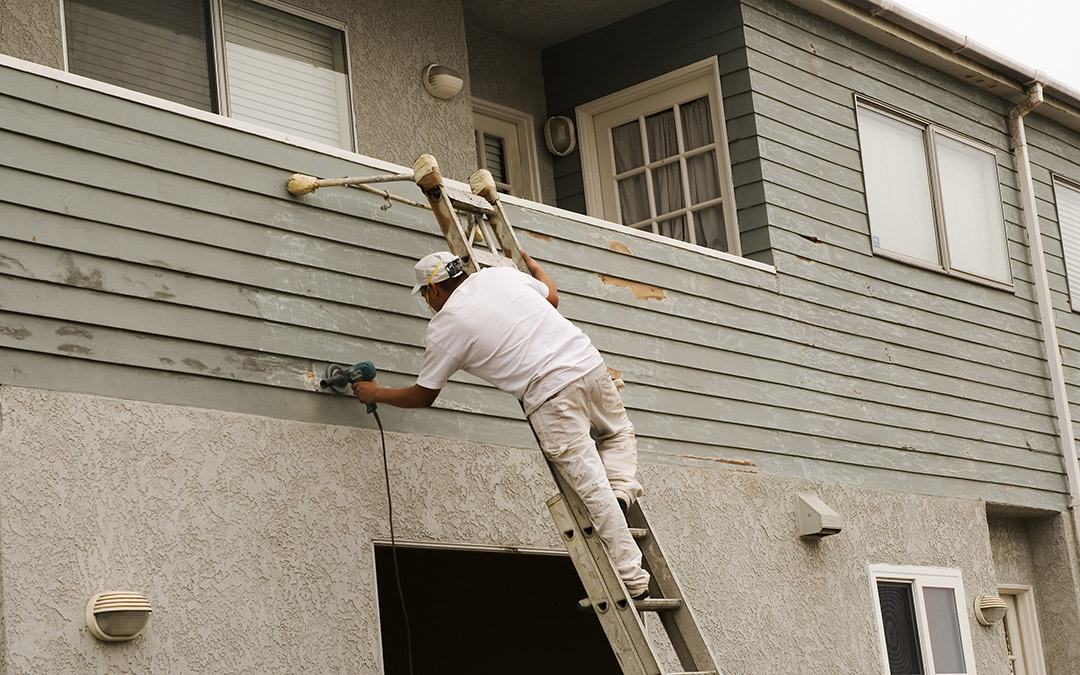 Exterior townhouse painting in El Monte